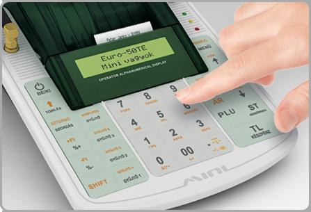Könnyű kezelés - Euro-50TE Mini online pénztárgép