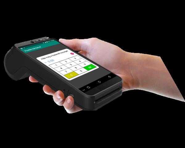 FiscalPro A8 bankkártya terminál kézben